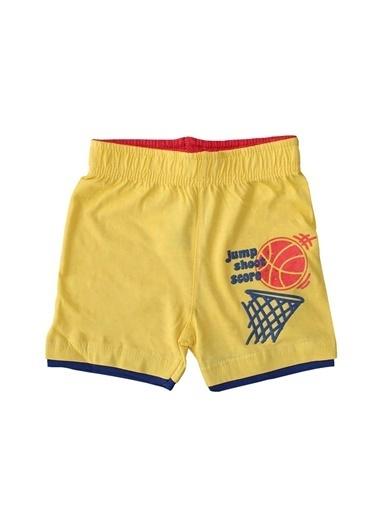 By Bebek Odam Basketbol Baskılı Erkek Çocuk Şort Renkli
